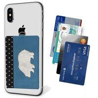 Porte-cartes pour téléphone portable - bleu