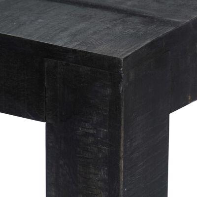 vidaXL Table à dîner Noir 140x80x76 cm Bois de manguier massif