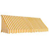 vidaXL Auvent de bistro 300x120 cm Orange et blanc