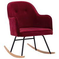 vidaXL Chaise à bascule Rouge bordeaux Velours