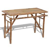 vidaXL Table pliable de jardin 120x50x77 cm Bambou