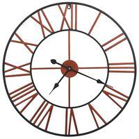 vidaXL Horloge murale Métal 58 cm Rouge