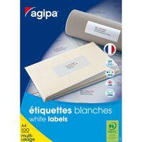 Etiquettes blanches 100 feuilles A4 51x33,8mm 3200 pièces - APLI AGIPA