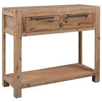 vidaXL Table console 82x33x73 cm Bois d'acacia massif