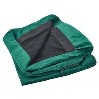Housse en velours vert pour canapé 2 places BERNES