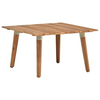 vidaXL Table basse de jardin 60x60x36 cm Bois solide d'acacia