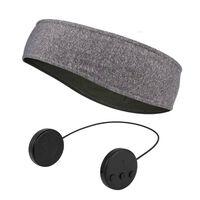 Bandeau avec casque et microphone Bluetooth - gris