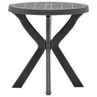 vidaXL Table de bistro Anthracite Ø70 cm Plastique