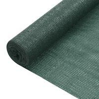 vidaXL Filet brise-vue Vert 1,5x10 m PEHD 75 g/m²