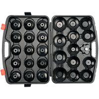 YATO Ensemble de clés de filtre à huile 30 pcs