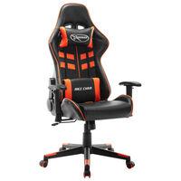 vidaXL Chaise de jeu Noir et orange Cuir artificiel