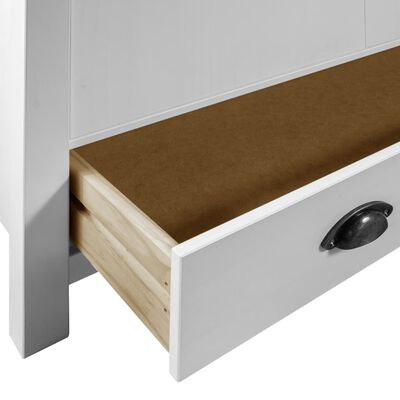 vidaXL Garde-robe à 2 portes Hill Range Blanc 89x50x170 cm Pin solide