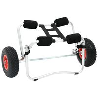 vidaXL Chariot pour kayak Aluminium