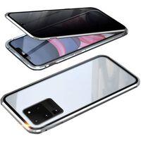 Etui magnétique pour téléphone portable en verre trempé des deux côtés