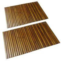 vidaXL Tapis de bain 2 pcs Acacia 80x50 cm