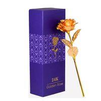 Rose dorée 24 carats - rose plaquée or avec or 24 carats