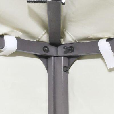 vidaXL Recouvrement de remplacement d'auvent 310 g/m² 3x3m Blanc crème