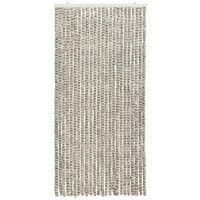 vidaXL Moustiquaire Gris clair et gris foncé 100x220 cm Chenille