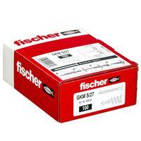 Fischer Fixations métalliques de plaque de plâtre avec vis 100 pcs