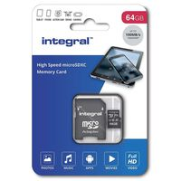 Carte micro SDHC/XC INTEGRAL INMSDX 64 G-100 V 10