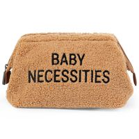 CHILDHOME Sac de toilette Baby Necessities Peluche Beige