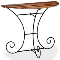 vidaXL Table console Bois Demi-ronde 90 x 45 x 75 cm
