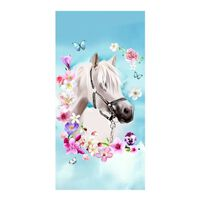 Good Morning My Beauty drap de plage - Velours 100% polyester -
