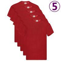 Fruit of the Loom T-shirts originaux 5 pcs Rouge L Coton