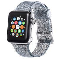 Bracelet Apple Watch 38 mm - Noir pailleté