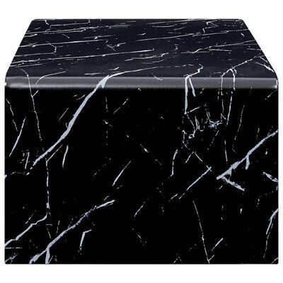 vidaXL Table basse Noir Marbre 98 x 45 x 31 cm Verre trempé