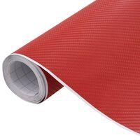 vidaXL Film mat 4D de voiture Rouge 200x152 cm