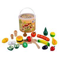 Happy People Fruits et légumes de jeu en bois Multicolore