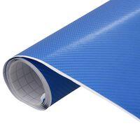 vidaXL Film mat 4D de voiture Bleu 500x152 cm