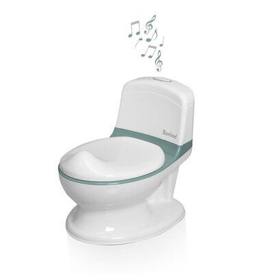 Baninni Pot de toilette avec son Pippe Vert et blanc