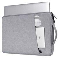 Sacoche pour ordinateur portable 14,1 pouces en toile - gris