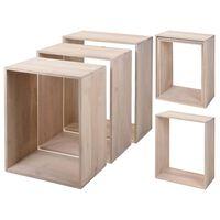 Home&Styling Ensemble de tables latérales 3 pcs Bois de manguier