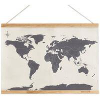 Carte du monde à broder- Beige