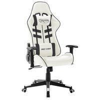 vidaXL Chaise de jeu Blanc et noir Cuir artificiel