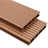 vidaXL Panneaux de terrasse avec accessoires WPC 30 m² 2,2 m Marron