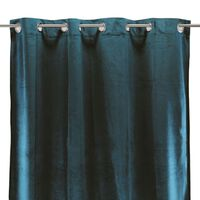 VELOURS - Rideau toucher velours bleu intense 140x250