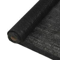 vidaXL Filet brise-vue PEHD 1,5 x 50 m Noir