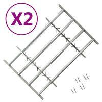 vidaXL Grilles réglables de sécurité de fenêtres 2 pcs 1000-1500 mm