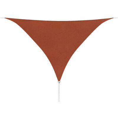vidaXL Parasol en tissu Oxford triangulaire terracotta 3,6 x 3,6 x 3,6 m