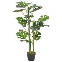 vidaXL Plante artificielle avec pot Monstera Vert 100 cm