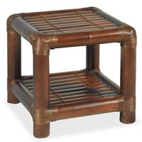 vidaXL Table de chevet 40 x 40 x 40 cm Bambou Marron foncé
