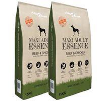 vidaXL Nourriture pour chiens Maxi Adult Essence Beef&Chicken 2pc 30kg