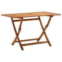 vidaXL Table de jardin pliable 120x70x75 cm Bois d'acacia massif