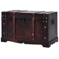 vidaXL Coffre vintage de rangement Bois 66 x 38 x 40 cm