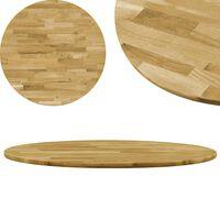 vidaXL Dessus de table Bois de chêne massif Rond 23 mm 500 mm