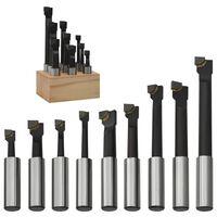 vidaXL Cutters de perçage 9 pcs 12 mm à base de bois